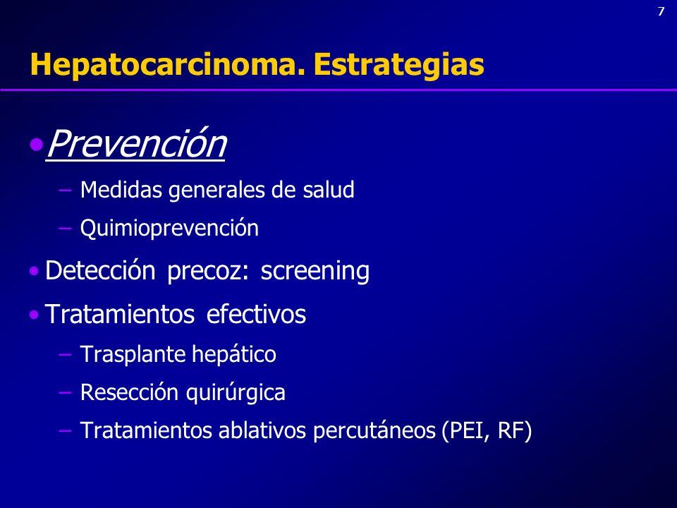 Hepatocarcinoma. Estrategias