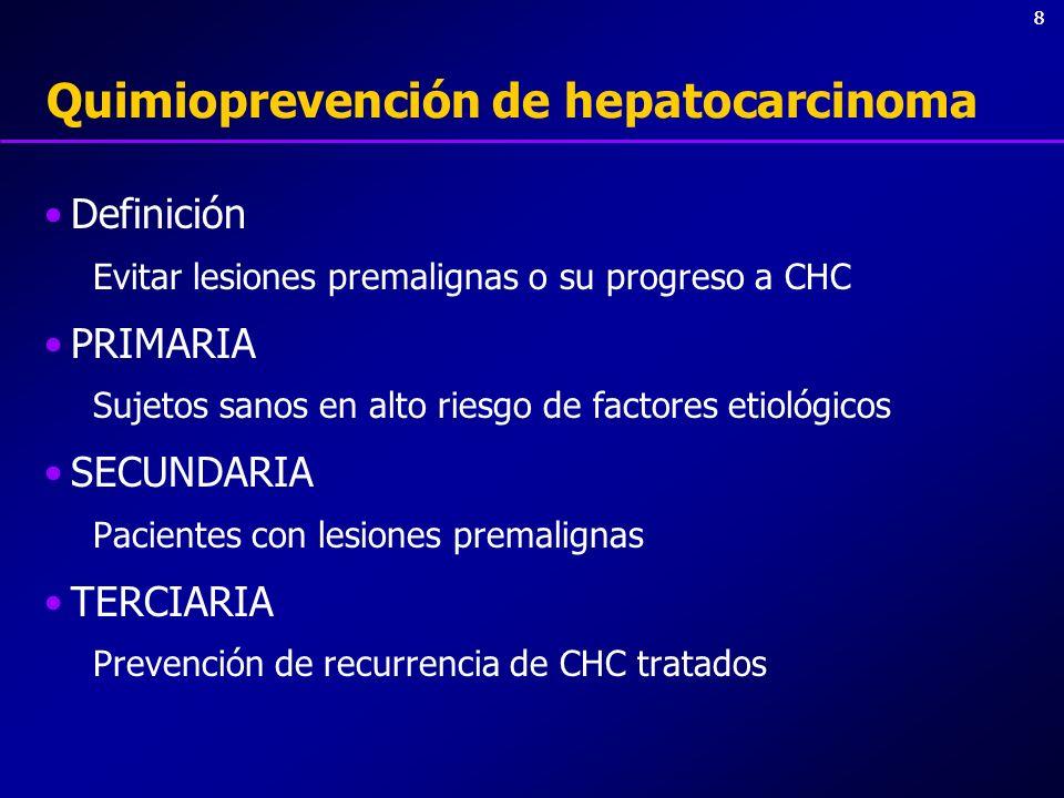 Quimioprevención de hepatocarcinoma