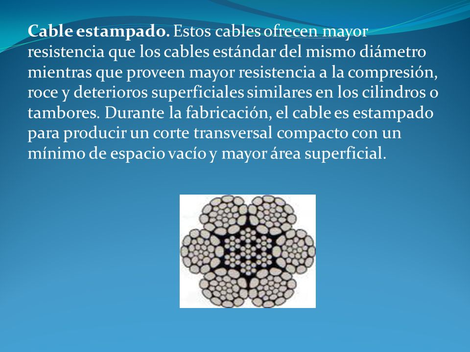 Cable estampado.