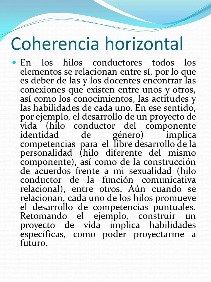 Coherencia horizontal