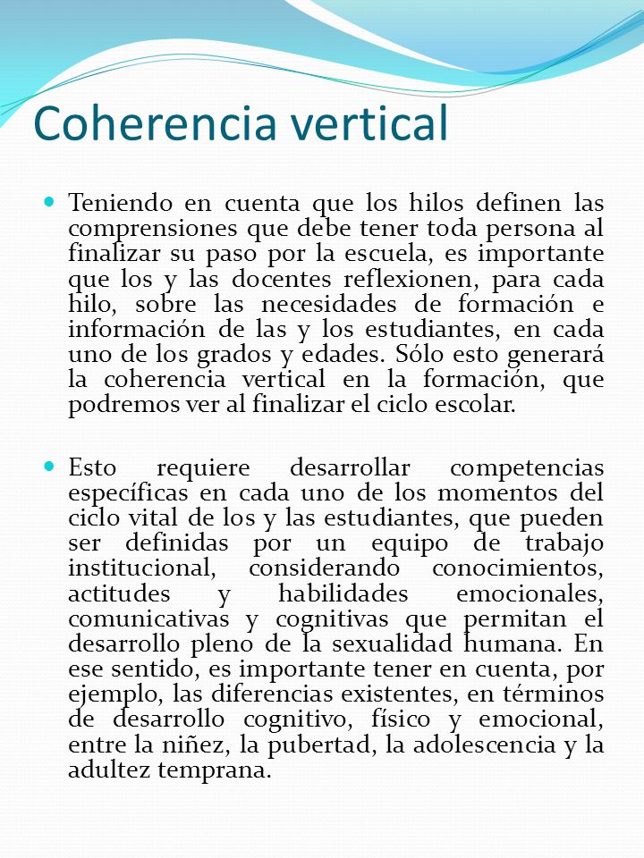 Coherencia vertical