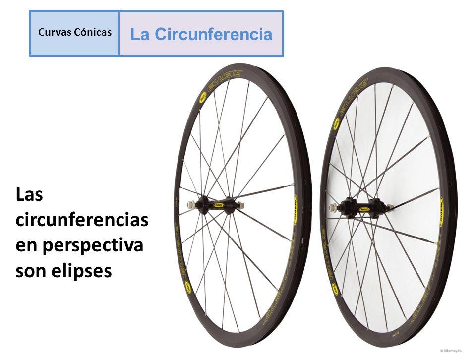 Las circunferencias en perspectiva son elipses