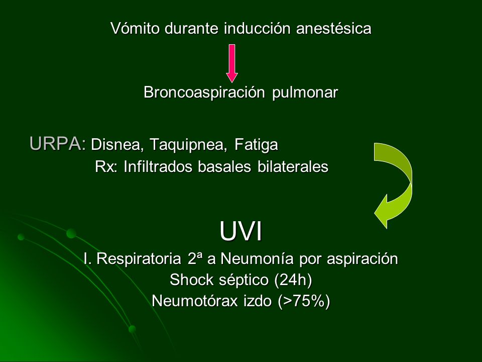 UVI URPA: Disnea, Taquipnea, Fatiga