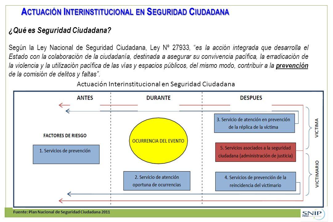 Actuación Interinstitucional en Seguridad Ciudadana