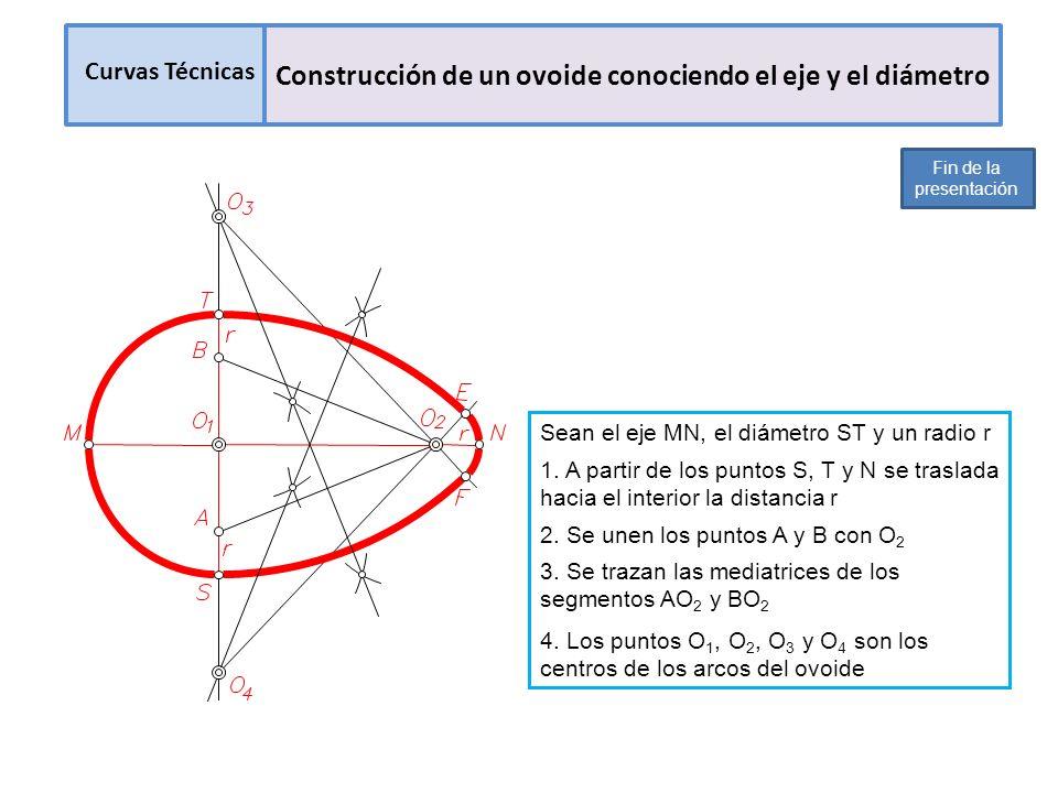 Construcción de un ovoide conociendo el eje y el diámetro