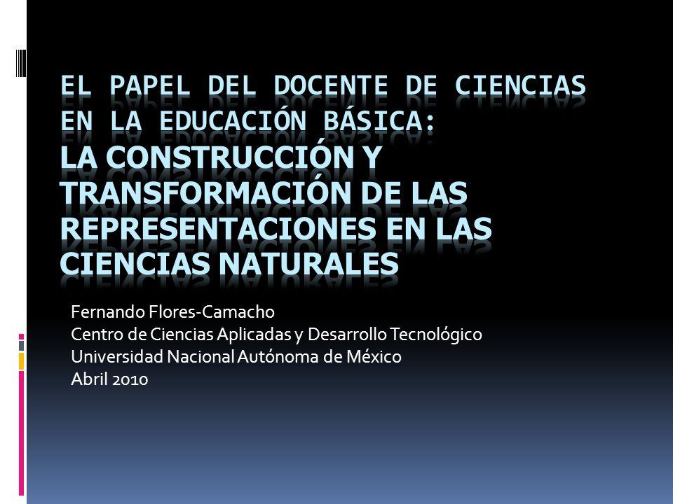 El papel del docente de ciencias en la educación básica: La construcción y transformación de las representaciones en las ciencias naturales