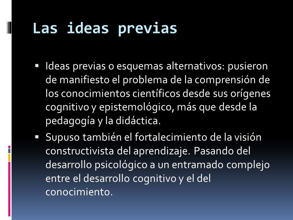 Las ideas previas