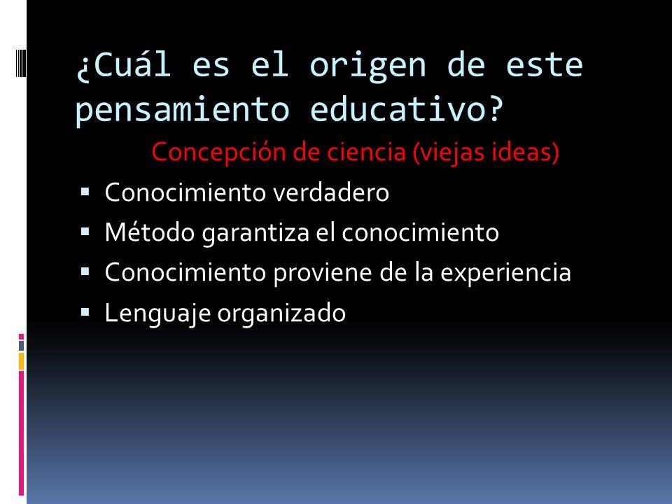 ¿Cuál es el origen de este pensamiento educativo