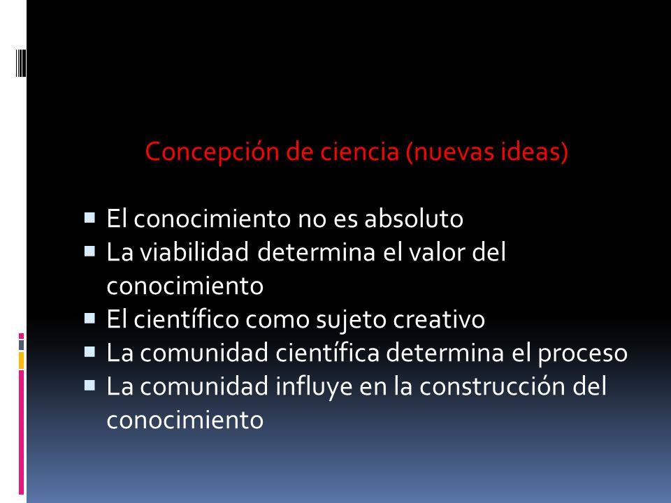 Concepción de ciencia (nuevas ideas)