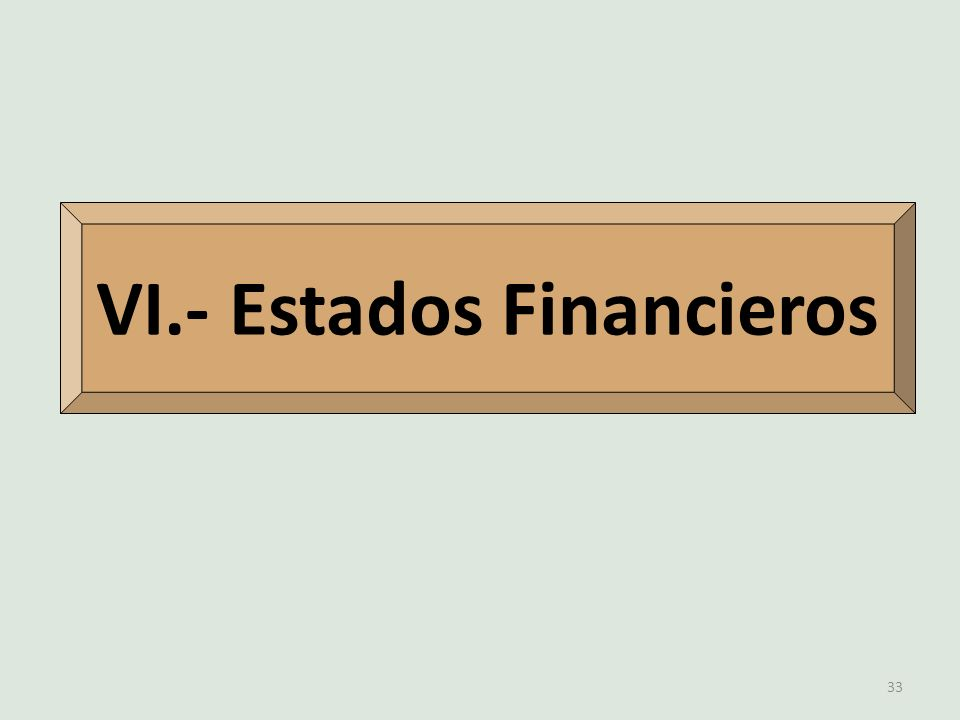 VI.- Estados Financieros