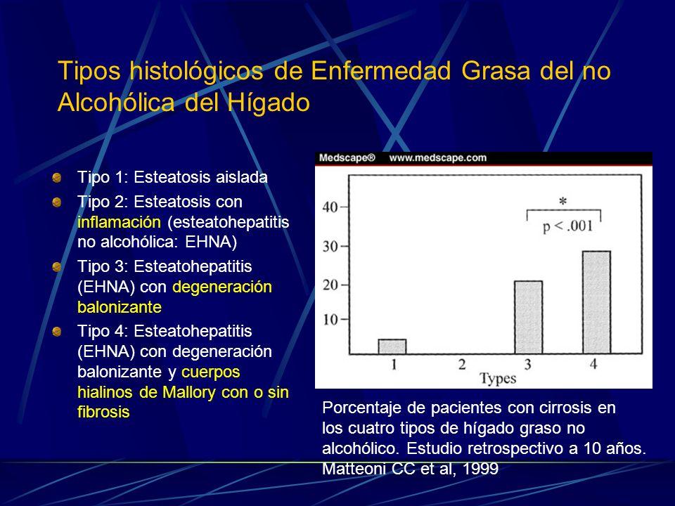 Tipos histológicos de Enfermedad Grasa del no Alcohólica del Hígado