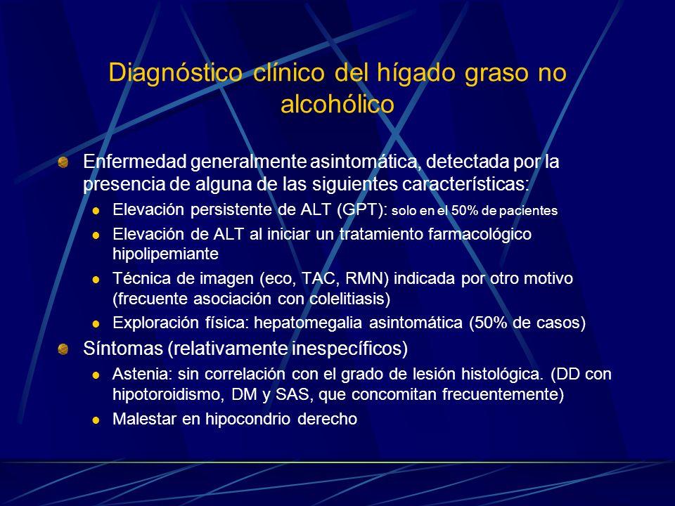 Diagnóstico clínico del hígado graso no alcohólico