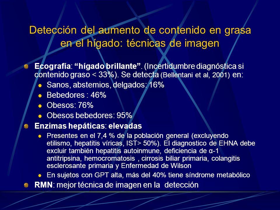 Detección del aumento de contenido en grasa en el hígado: técnicas de imagen