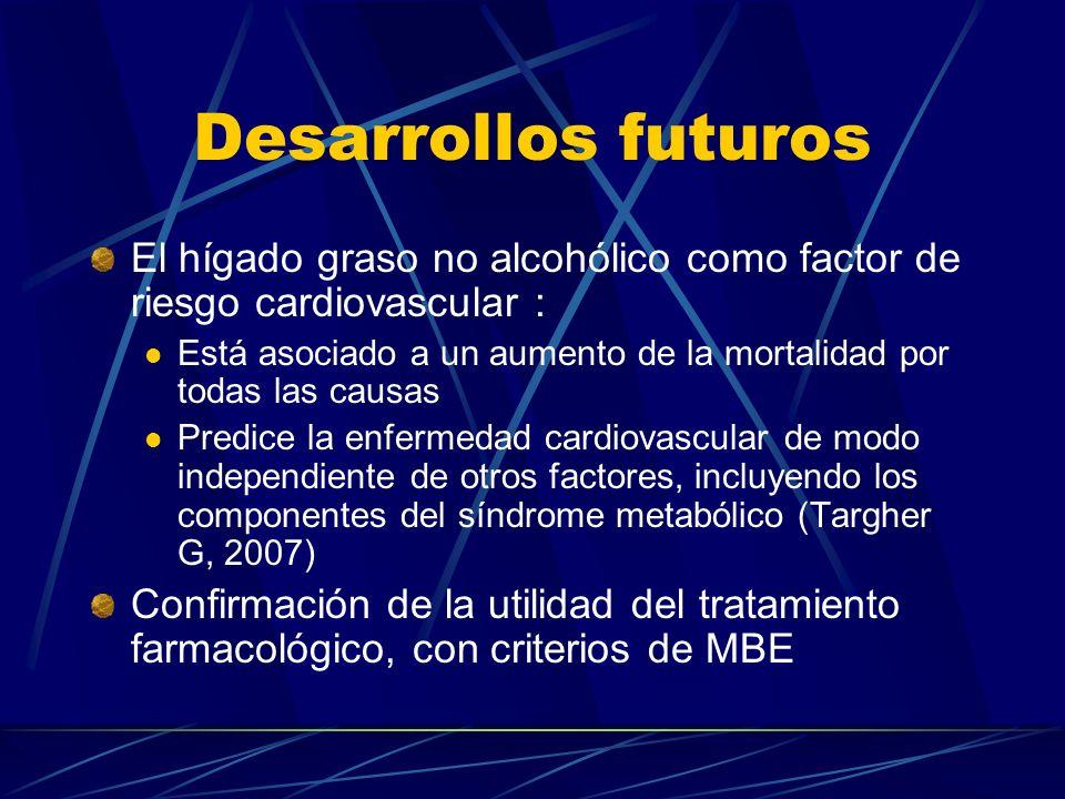 Desarrollos futuros El hígado graso no alcohólico como factor de riesgo cardiovascular :