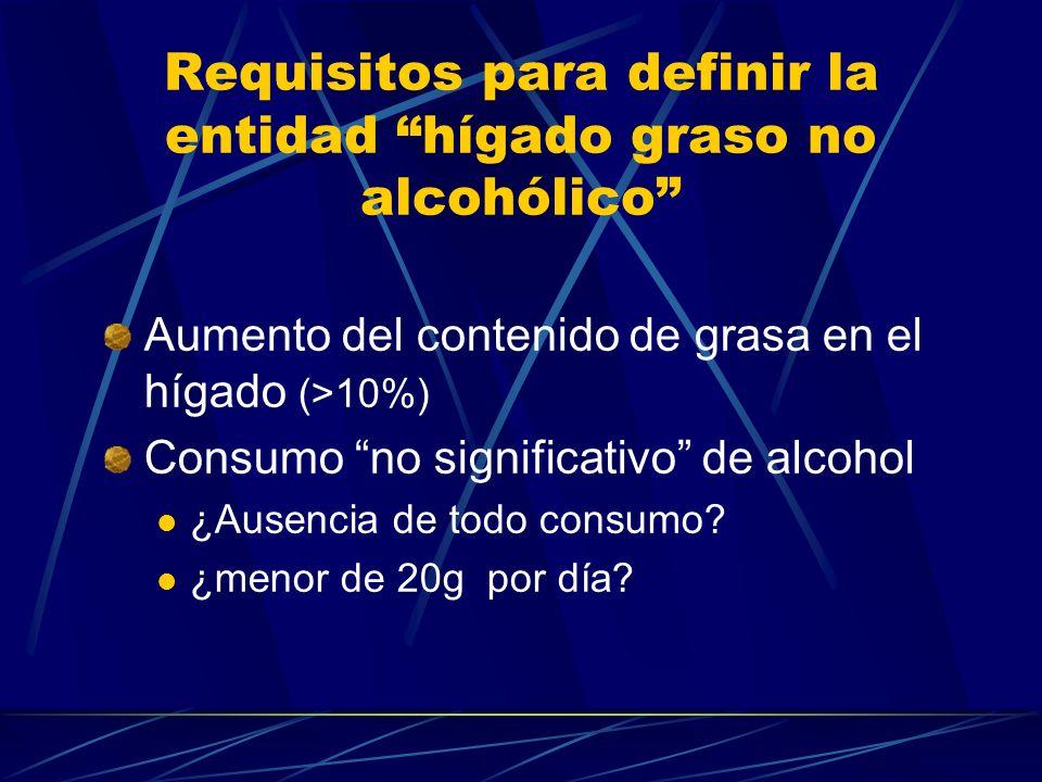 Requisitos para definir la entidad hígado graso no alcohólico