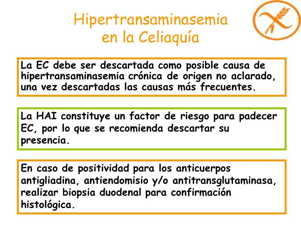 Hipertransaminasemia en la Celiaquía