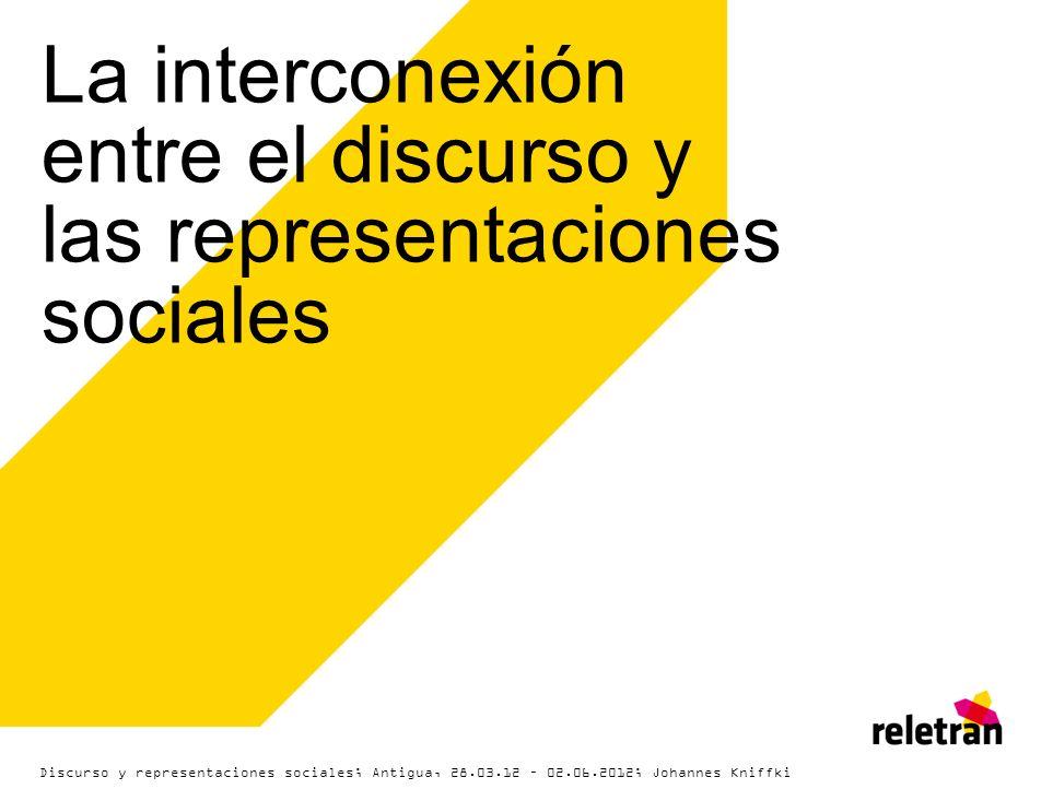 La interconexión entre el discurso y las representaciones sociales