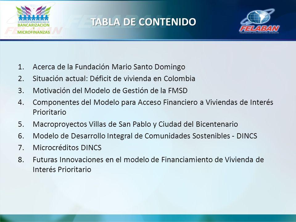TABLA DE CONTENIDO Acerca de la Fundación Mario Santo Domingo