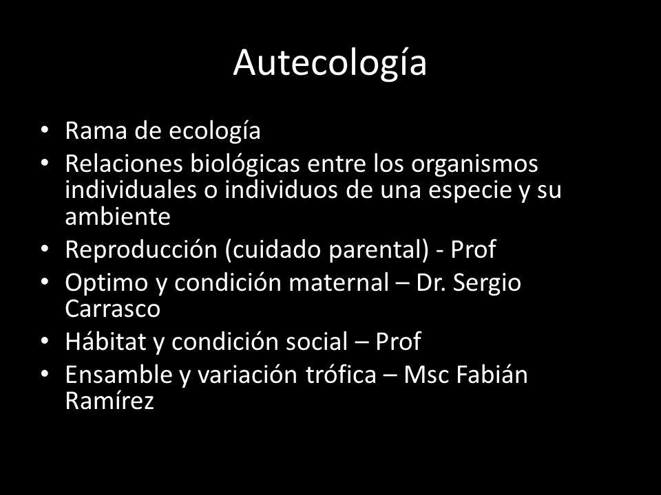 Autecología Rama de ecología