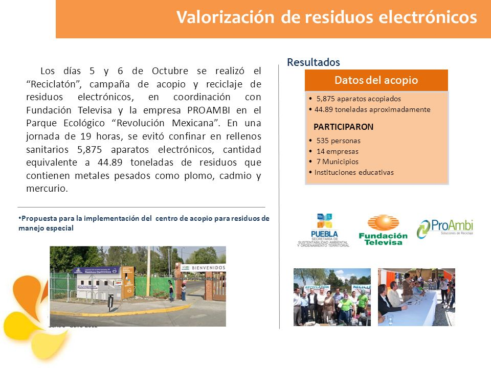 Valorización de residuos electrónicos