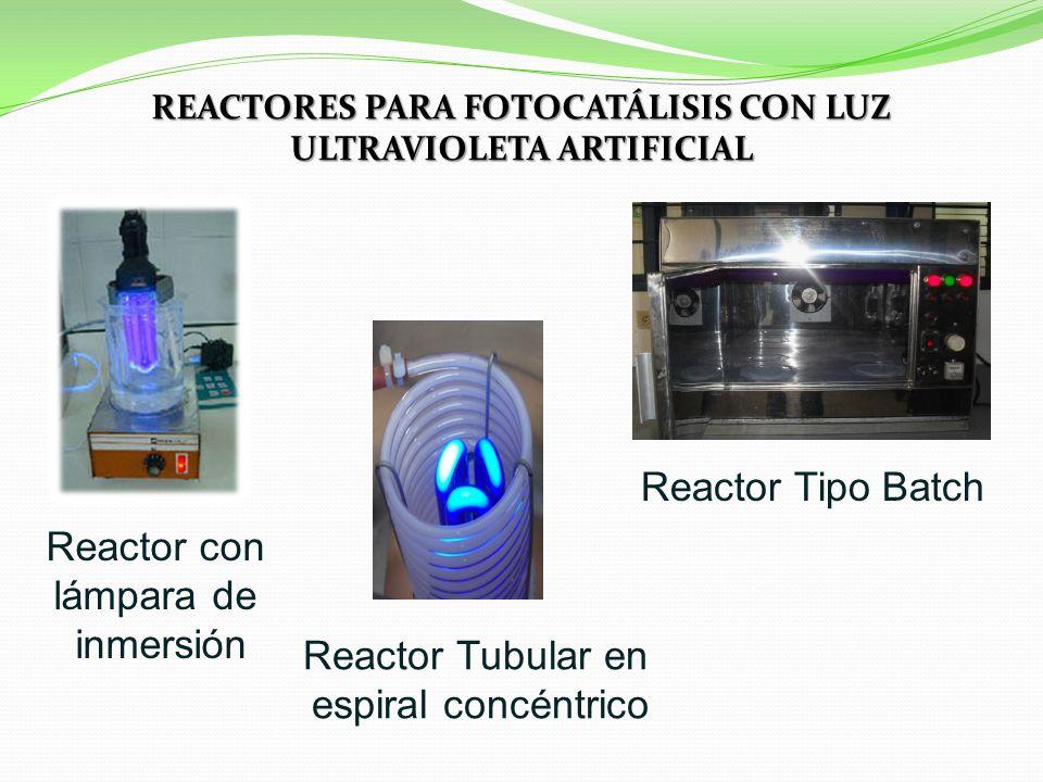 REACTORES PARA FOTOCATÁLISIS CON LUZ ULTRAVIOLETA ARTIFICIAL