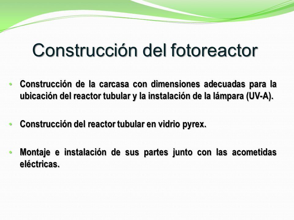 Construcción del fotoreactor