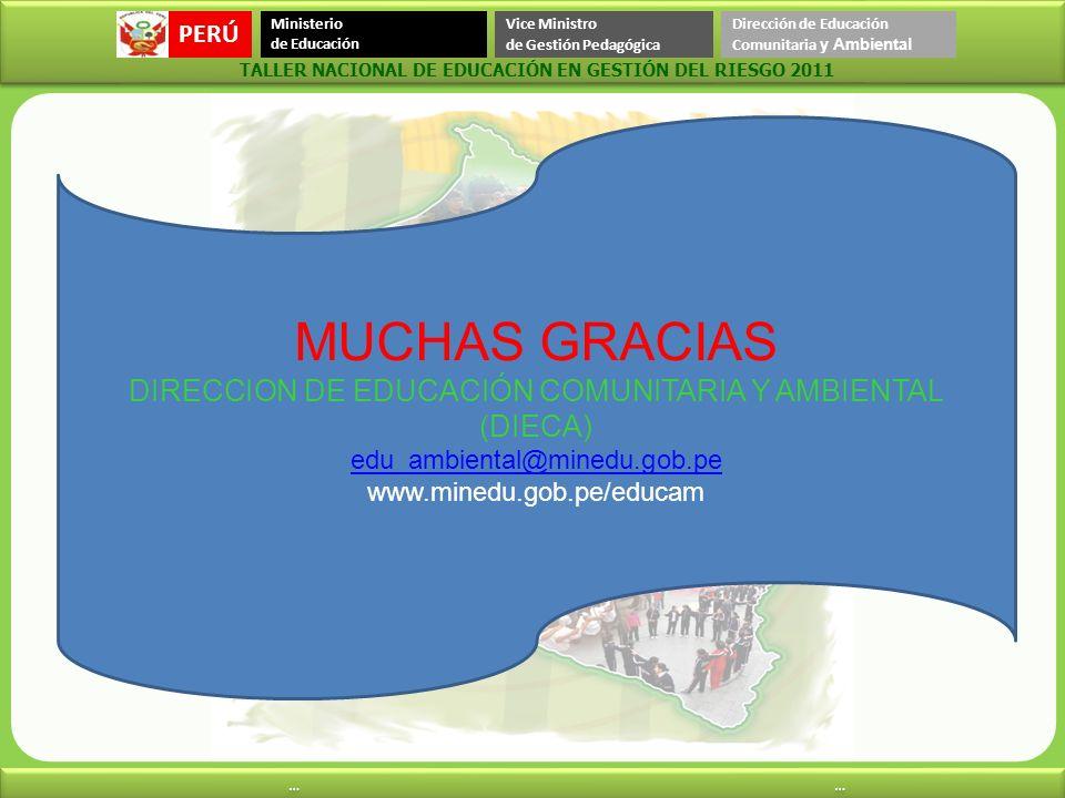 DIRECCION DE EDUCACIÓN COMUNITARIA Y AMBIENTAL