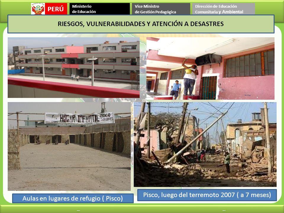RIESGOS, VULNERABILIDADES Y ATENCIÓN A DESASTRES