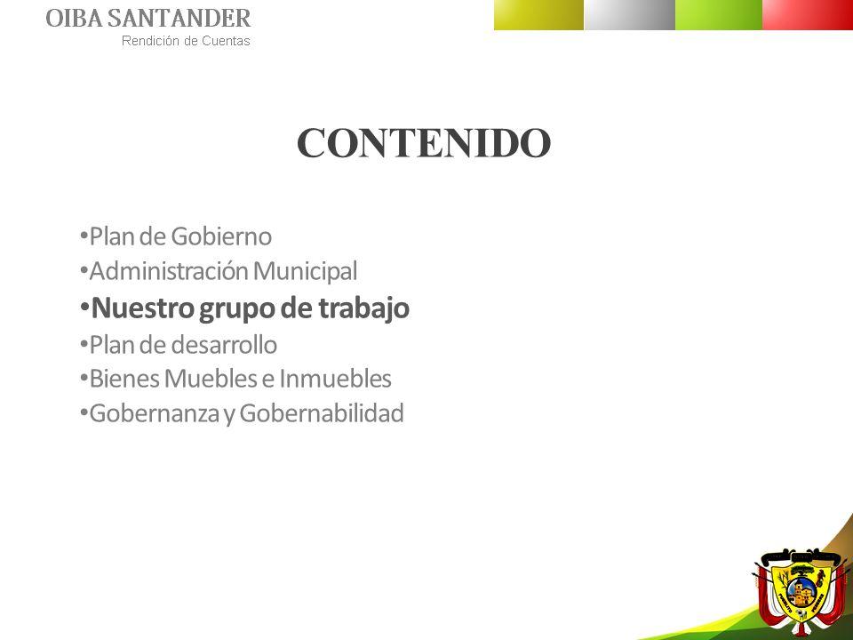 CONTENIDO Nuestro grupo de trabajo Plan de Gobierno