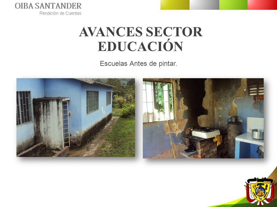 AVANCES SECTOR EDUCACIÓN