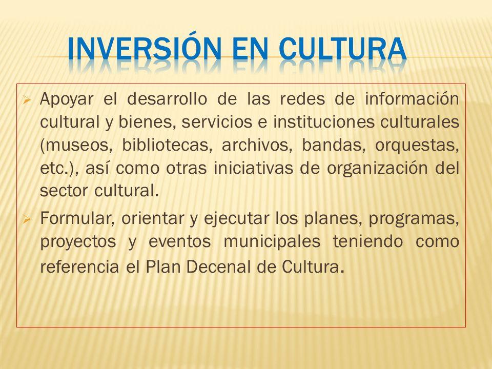Inversión en cultura
