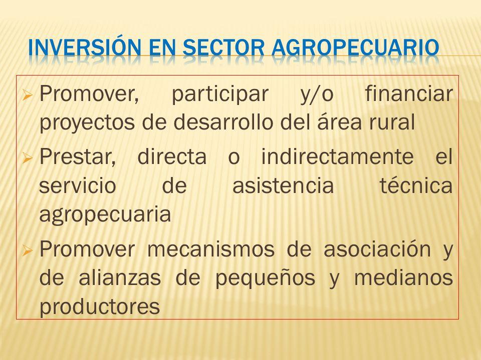 Inversión en sector agropecuario