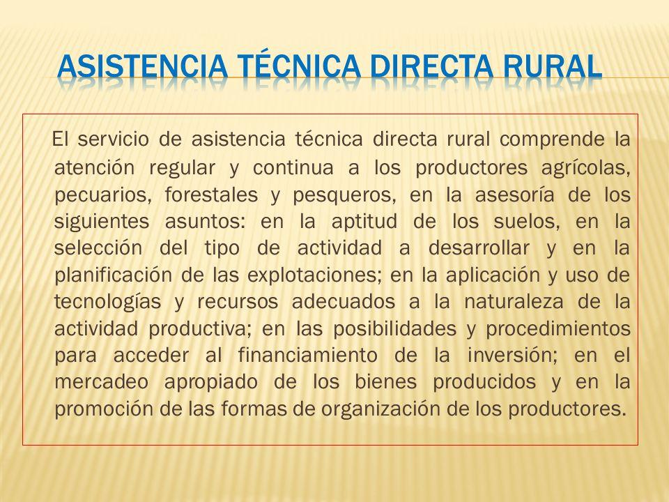 Asistencia técnica directa rural