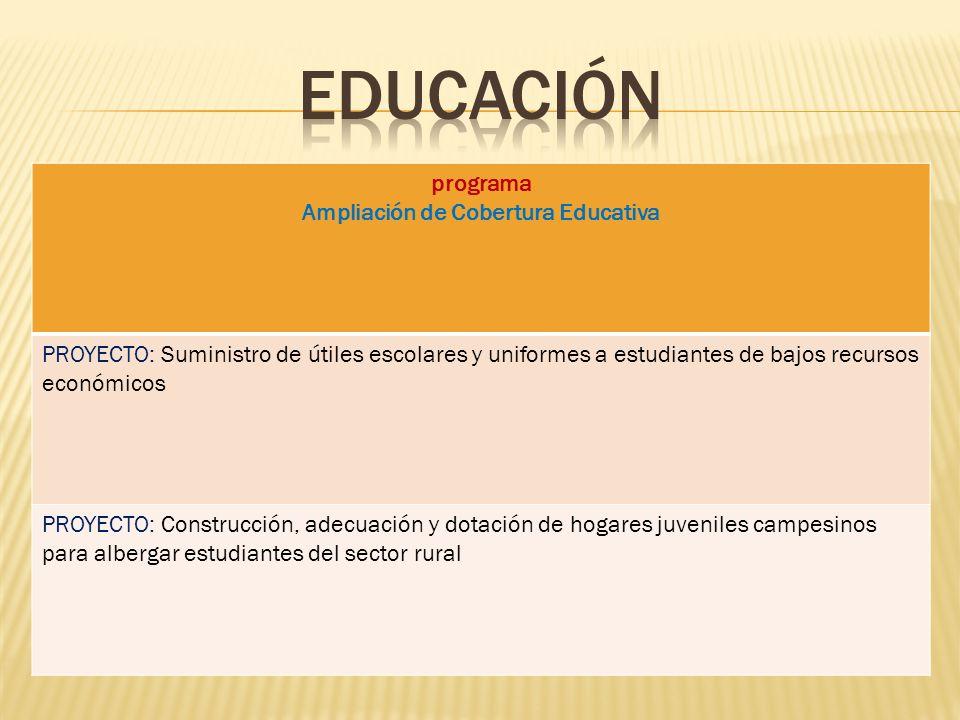 Ampliación de Cobertura Educativa