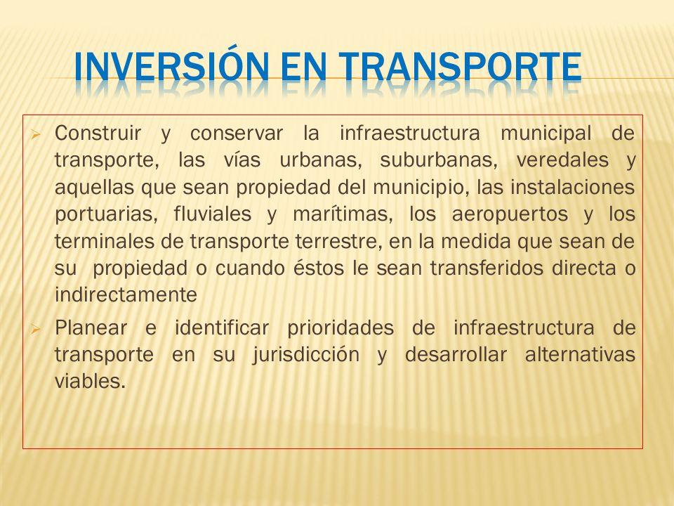 Inversión en transporte