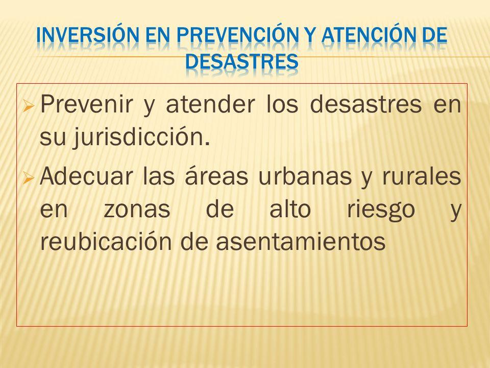 Inversión en prevención y atención de desastres