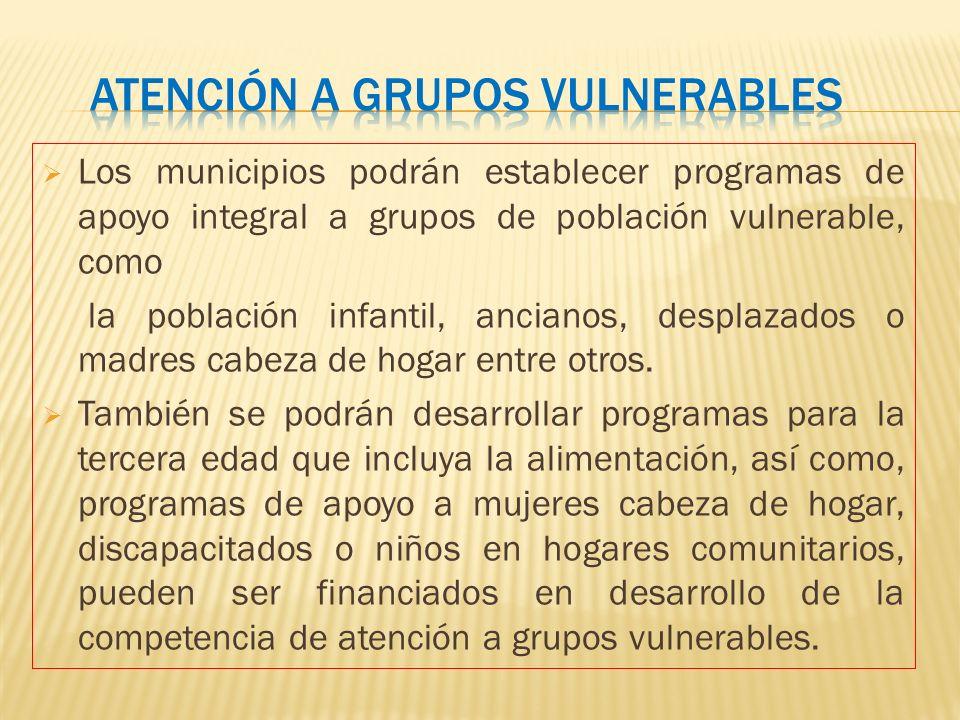 Atención a grupos vulnerables