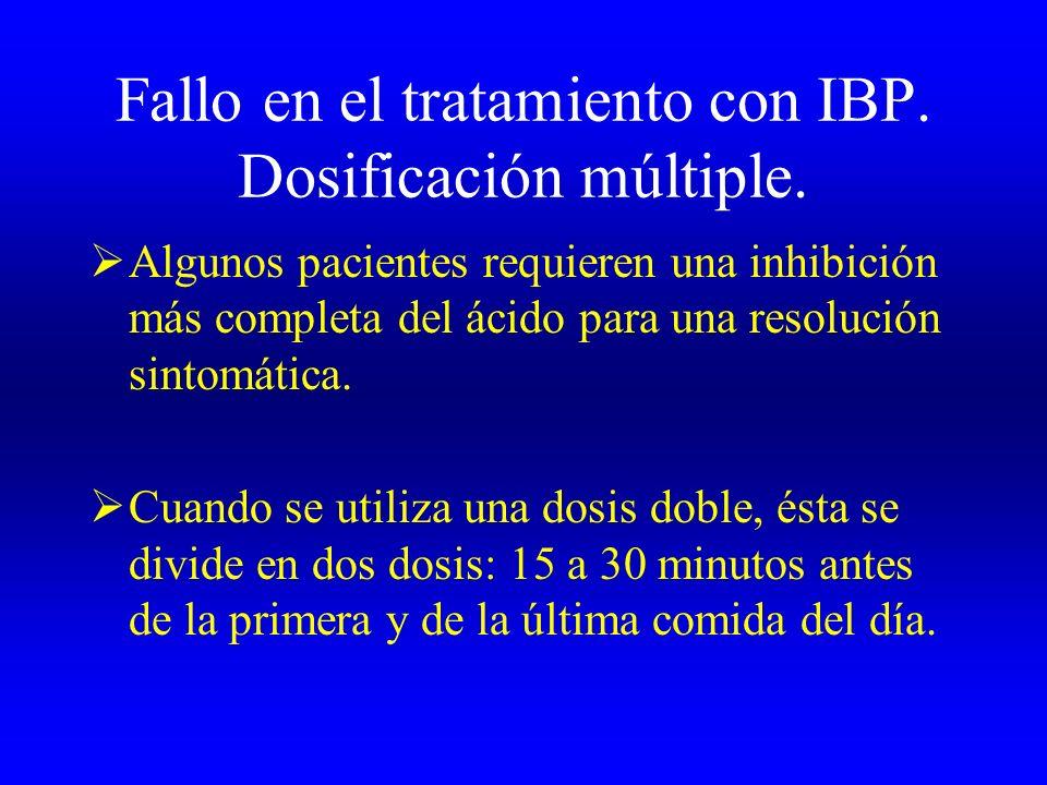 Fallo en el tratamiento con IBP. Dosificación múltiple.