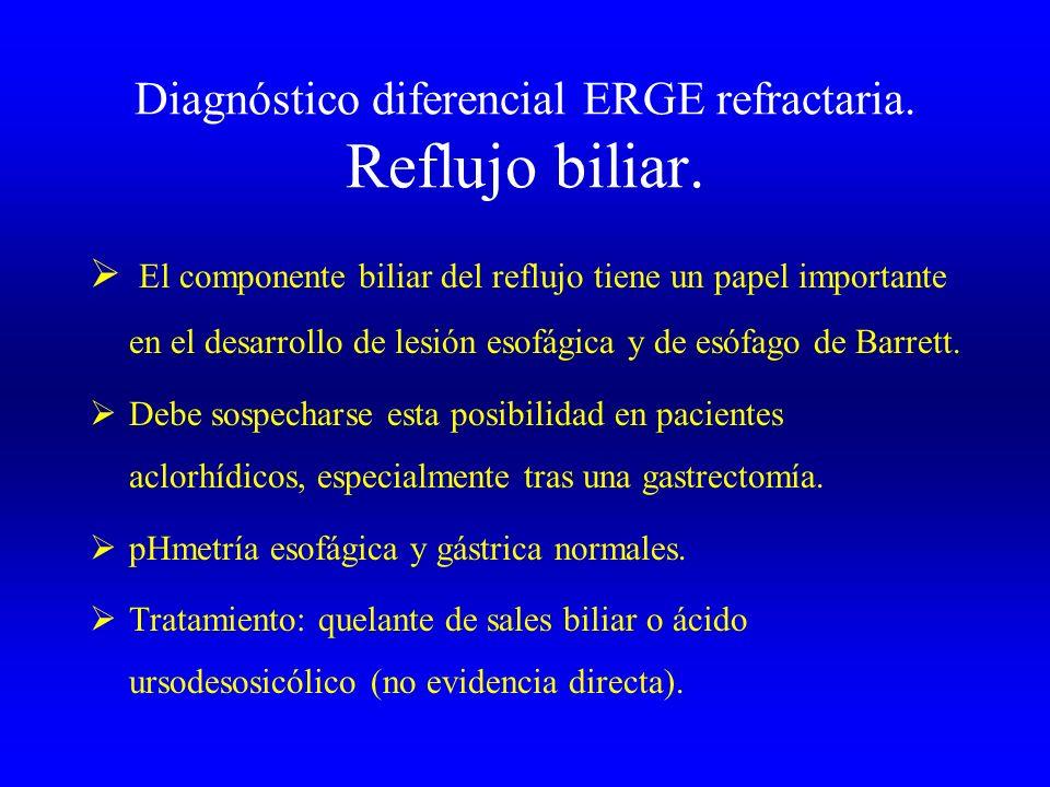 Diagnóstico diferencial ERGE refractaria. Reflujo biliar.