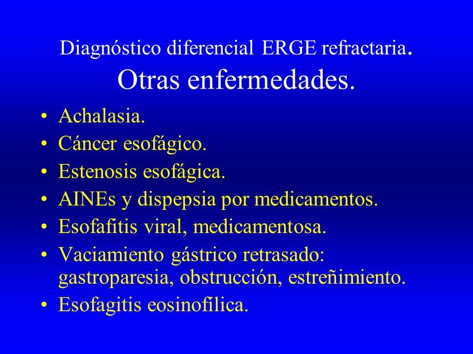 Diagnóstico diferencial ERGE refractaria. Otras enfermedades.