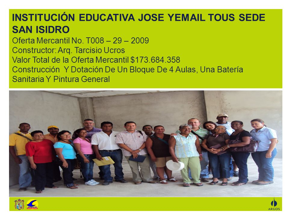 INSTITUCIÓN EDUCATIVA JOSE YEMAIL TOUS SEDE SAN ISIDRO