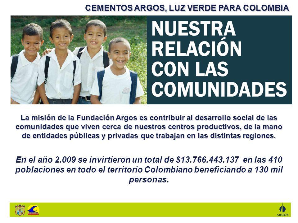 CEMENTOS ARGOS, LUZ VERDE PARA COLOMBIA
