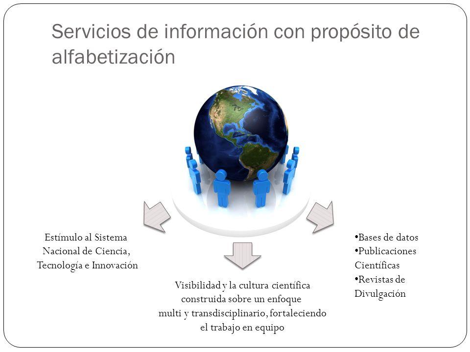 Servicios de información con propósito de alfabetización