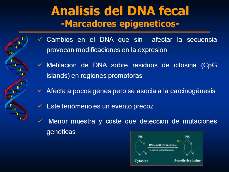 Analisis del DNA fecal -Marcadores epigeneticos-