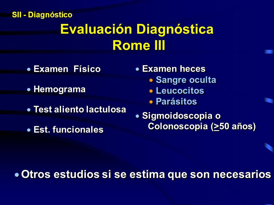 Evaluación Diagnóstica Rome III