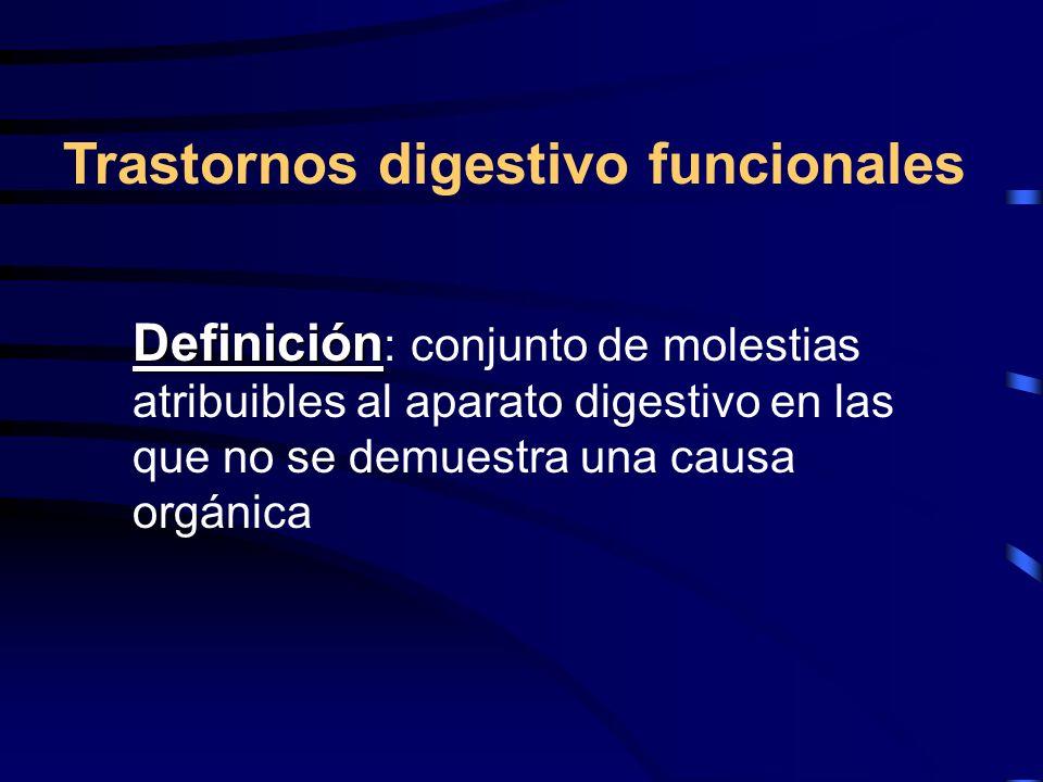 Trastornos digestivo funcionales