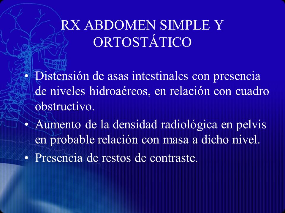 RX ABDOMEN SIMPLE Y ORTOSTÁTICO