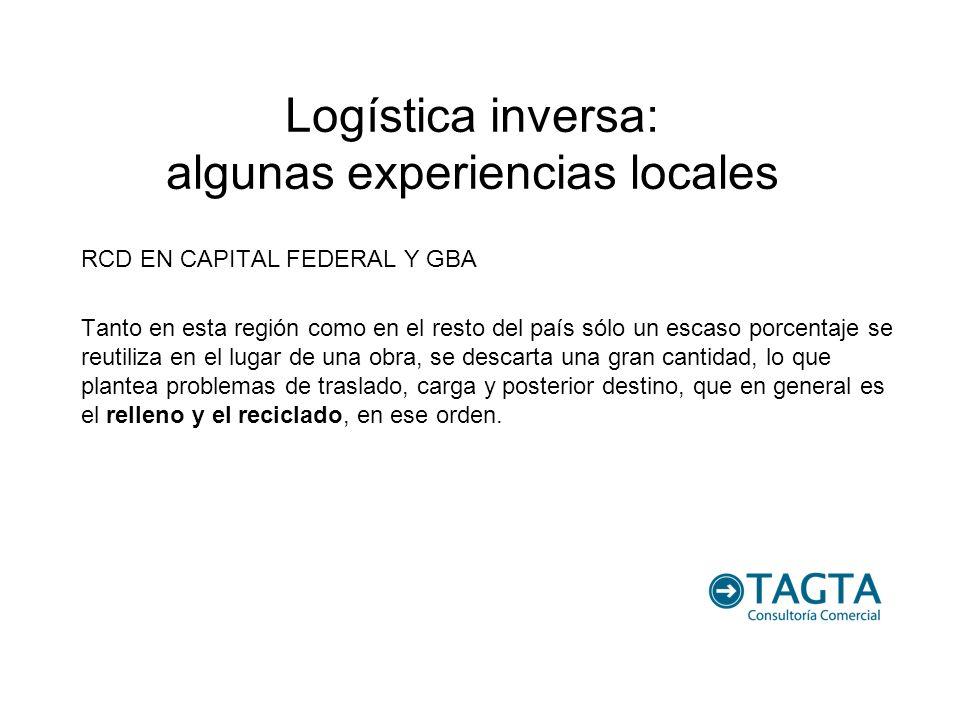 Logística inversa: algunas experiencias locales