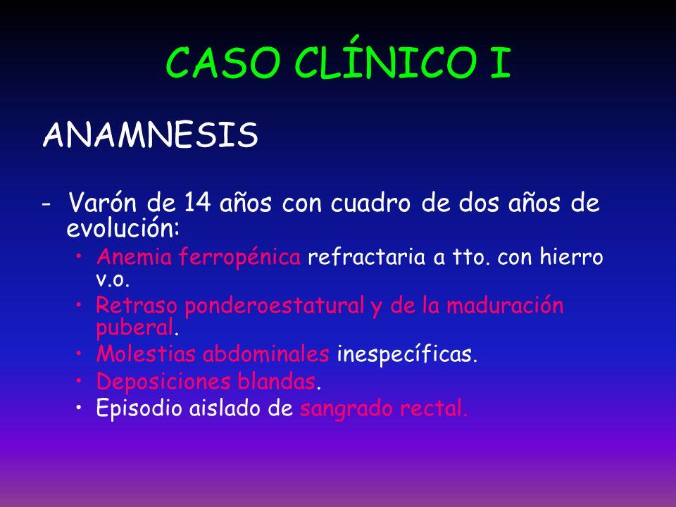 CASO CLÍNICO I ANAMNESIS