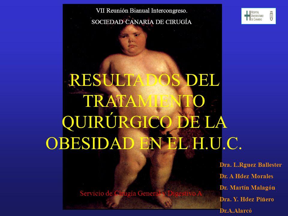 RESULTADOS DEL TRATAMIENTO QUIRÚRGICO DE LA OBESIDAD EN EL H.U.C.